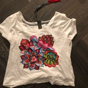 Desigual embellished cropped T-shirt